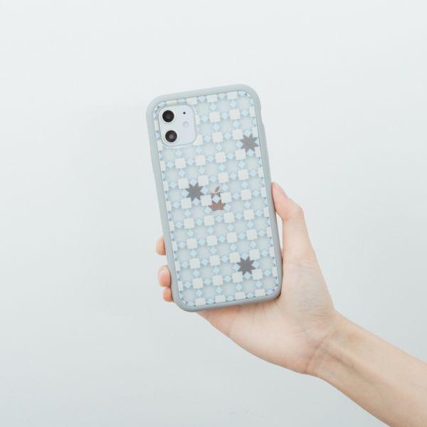 【預購】印花樂X犀牛盾NX邊框背蓋兩用殼/老磁磚/背蓋星芒灰白 手機殼, 手機套, 犀牛盾, iPhone 手機殼