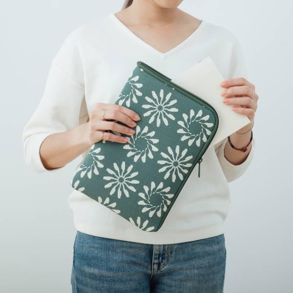 """10.5"""" iPad收納包/烏秋圈圈/水鴨綠色 平板保護殼, 平板保護袋, iPad收納袋"""