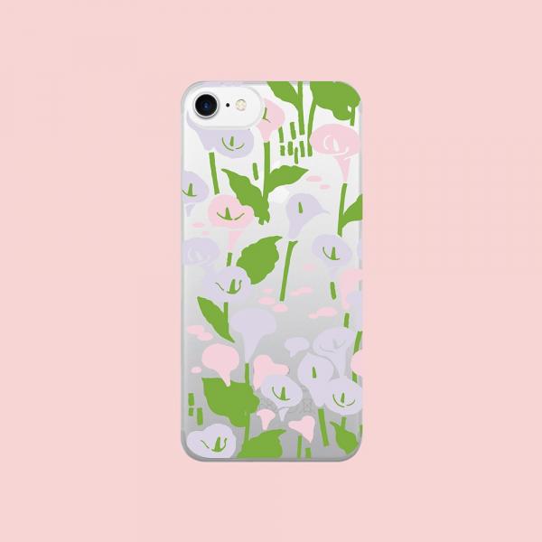 【現貨】印花樂X犀牛盾NX背板-iPhone X/雜花/背蓋透明海芋白 手機殼, 手機套, 犀牛盾, iPhone 手機殼