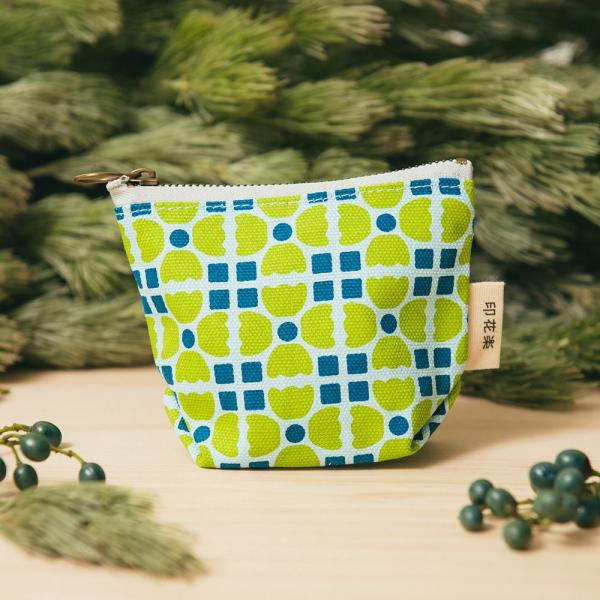 拉鏈零錢包/老磁磚4號/果樹綠色 零錢包
