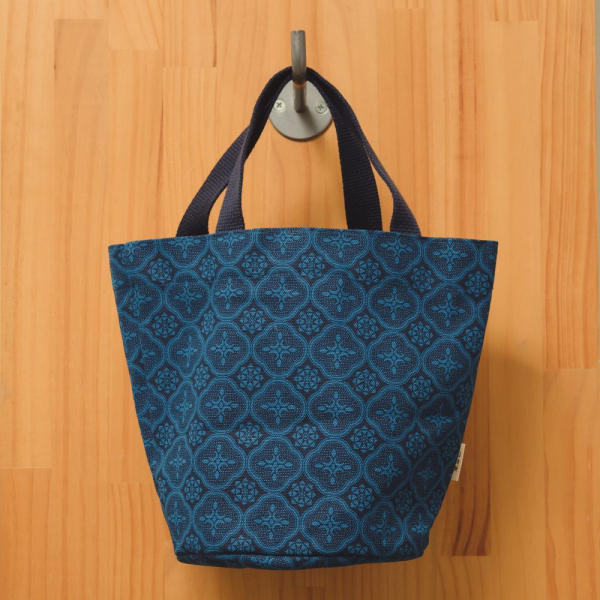 圓底小提袋/玻璃海棠/宅邸深藍 手提袋, 手提包