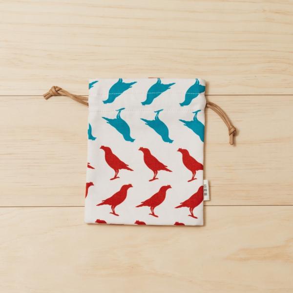 束口小物袋/台灣八哥5號/古宅紅粉 束口袋, 收納袋
