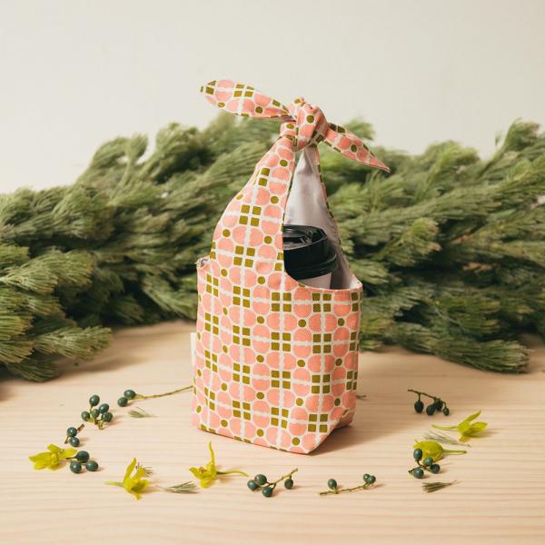小胖兔耳袋/老磁磚4號/蜜瓜膚粉 環保飲料提袋, 隨行杯提袋, 兔耳袋