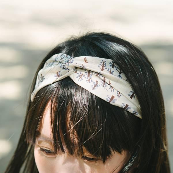 造型髮帶/藝術家聯名/印花樂 x 古曉茵/森林物語/米褐藍 髮帶, 配件, 髮飾, 髮箍