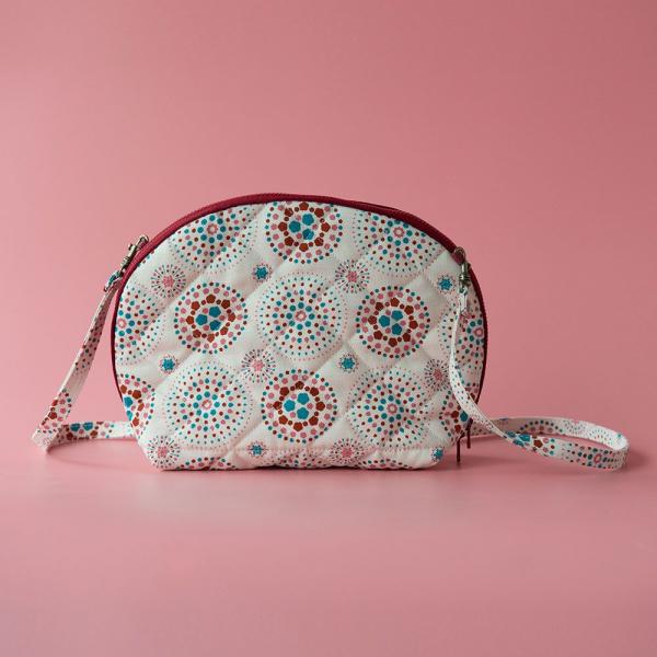 菠蘿側背小包/煙火/絢爛粉紅 隨身包, 側背包