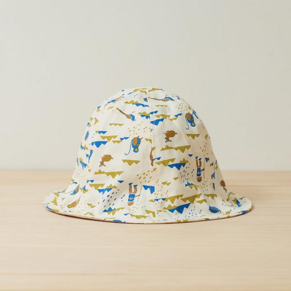 花瓣帽/山中健行/大地藍綠 遮陽帽, 花瓣帽
