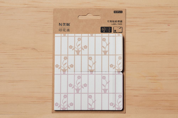 N次貼-可再貼紙標籤/鐵花窗/花朵/多色 N次貼, 可再貼紙標籤