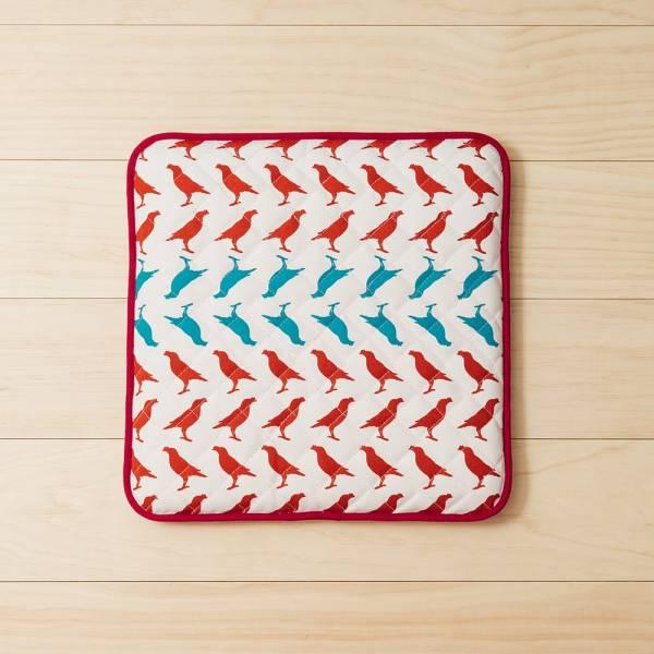 鋪棉綁繩坐墊-方形/台灣八哥5號/古宅紅粉 椅墊, 坐墊