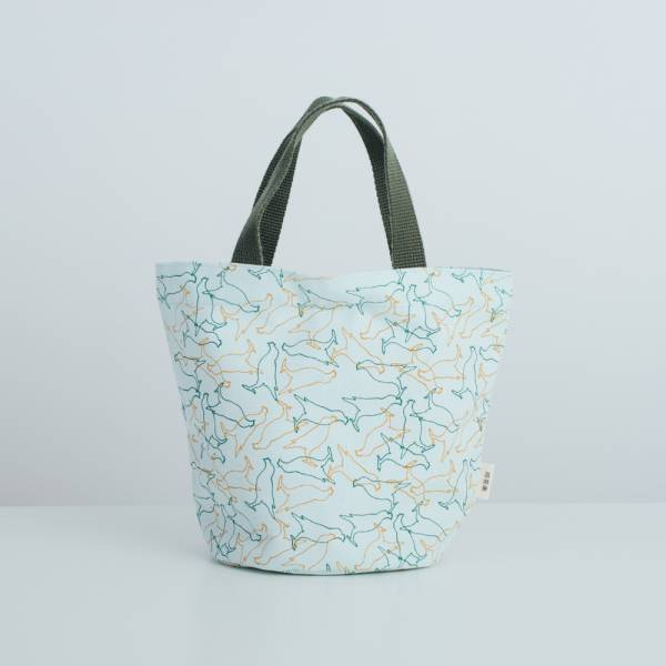 圓底小提袋/台灣八哥/白晝藍 手提袋, 手提包