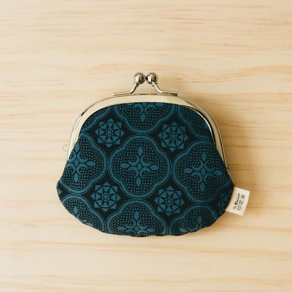 3.3吋口金零錢包/玻璃海棠/島嶼邊際/海軍藍 口金包, 零錢包