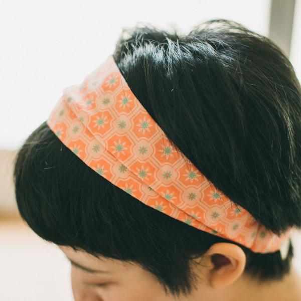 寬版髮帶/老磁磚2號/層次膚粉 髮帶, 配件, 髮飾, 髮箍