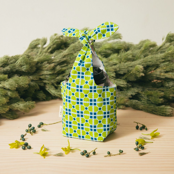 小胖兔耳袋/老磁磚4號/果樹綠色 環保飲料提袋, 隨行杯提袋, 兔耳袋