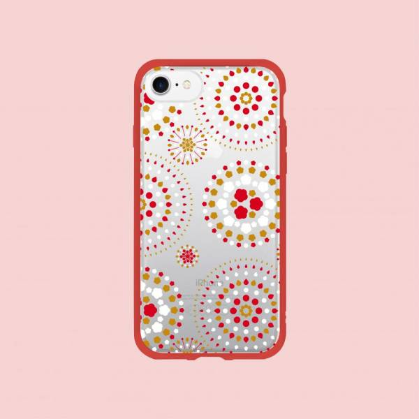 【現貨】印花樂X犀牛盾NX邊框背蓋兩用殼-iPhone X/煙火/背蓋透明白紅黃 手機殼, 手機套, 犀牛盾, iPhone 手機殼