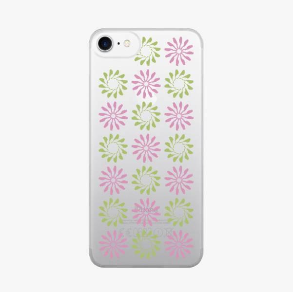 【現貨】印花樂X犀牛盾MOD背板-iPhone X/烏秋圈圈/背蓋透明紫綠 手機殼, 手機套, 犀牛盾, iPhone 手機殼