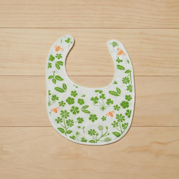 寶寶口水巾/野花草與蜜蜂/青草綠 口水巾, 寶寶禮物