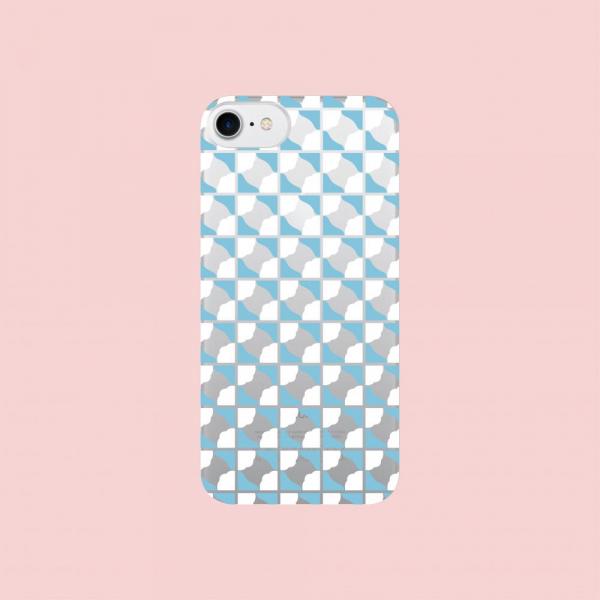 【現貨】印花樂X犀牛盾NX背板-iPhone X系列/老磁磚3號/背蓋透明藍白 手機殼, 手機套, 犀牛盾, iPhone 手機殼