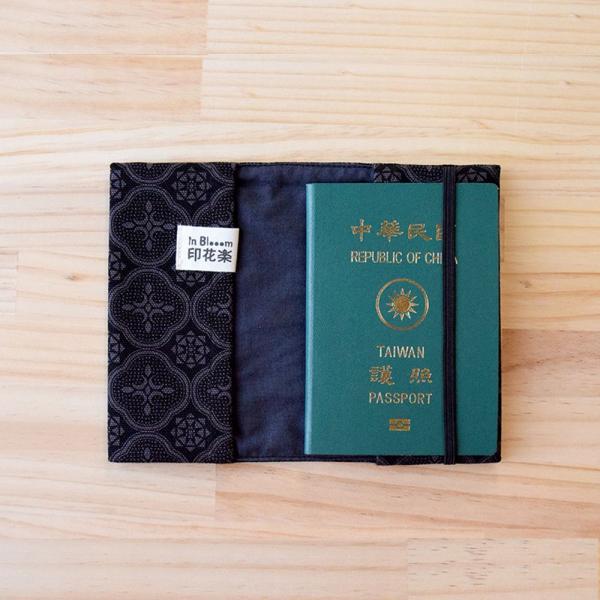 護照書衣/玻璃海棠/紳士黑色 護照套, 書衣