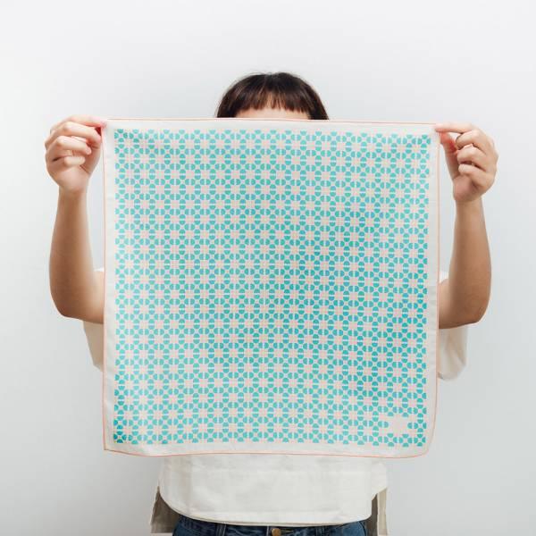 包布巾/老磁磚4號/小溪藍色 布巾, 包巾, 手帕