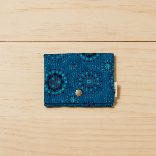 單釦面紙小物袋/煙火/星夜藍色 面紙袋, 小物袋