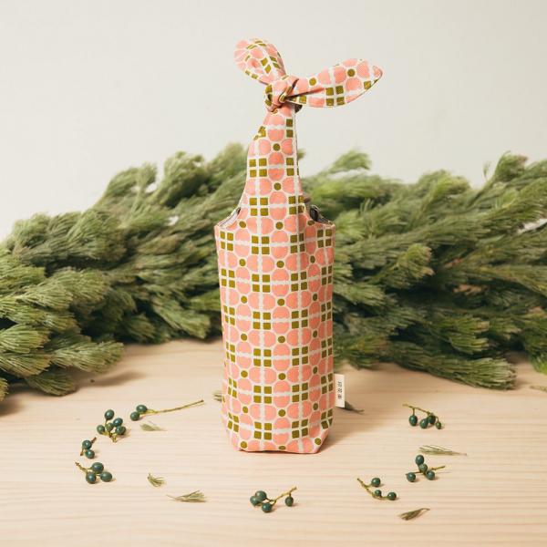 兔耳水壺袋/老磁磚4號/蜜瓜膚粉 環保飲料提袋, 隨行杯提袋, 兔耳袋