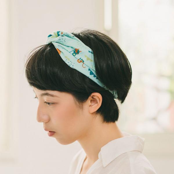造型髮帶/山中健行/粉霧淡藍 髮帶, 配件, 髮飾, 髮箍