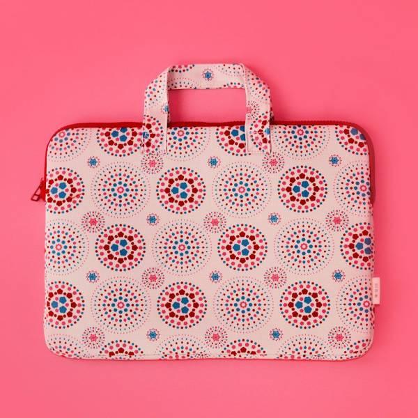 13吋筆電收納包/煙火/絢爛粉紅 筆電包, 筆電袋