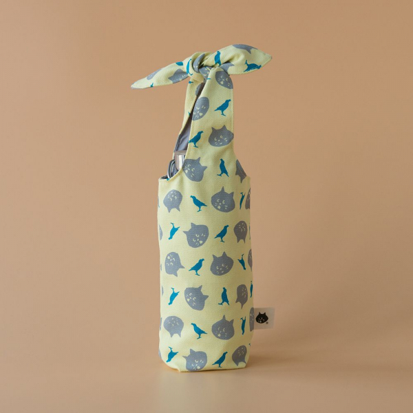 兔耳水壺袋/限定花色/にゃー x inBlooom 月亮黃 環保飲料提袋, 隨行杯提袋, 兔耳袋