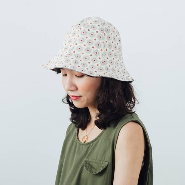 花瓣帽/老磁磚2號/雲塵灰色 遮陽帽, 花瓣帽