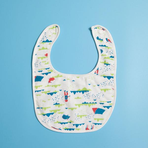 寶寶口水巾/山中健行/活力紅藍 口水圍兜, 口水巾, 寶寶毛巾, 寶寶紗巾
