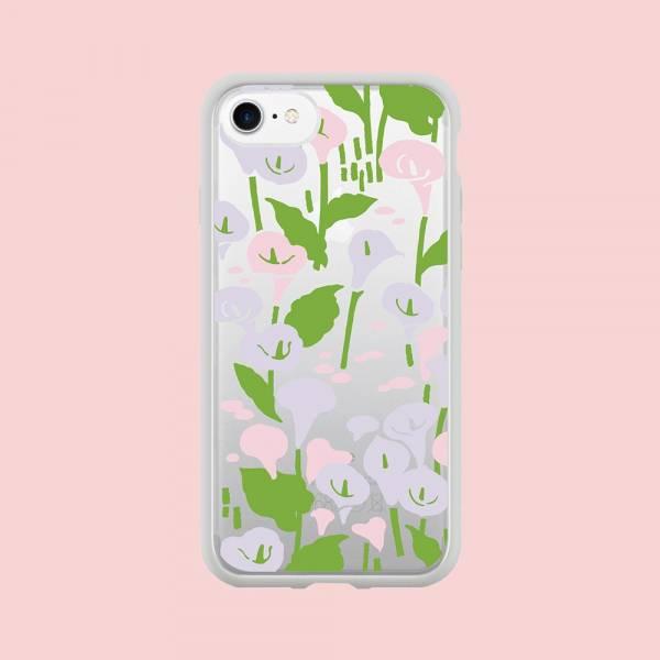 【現貨】印花樂X犀牛盾NX邊框背蓋兩用殼-iPhone/雜花/背蓋透明海芋白 手機殼, 手機套, 犀牛盾, iPhone 手機殼