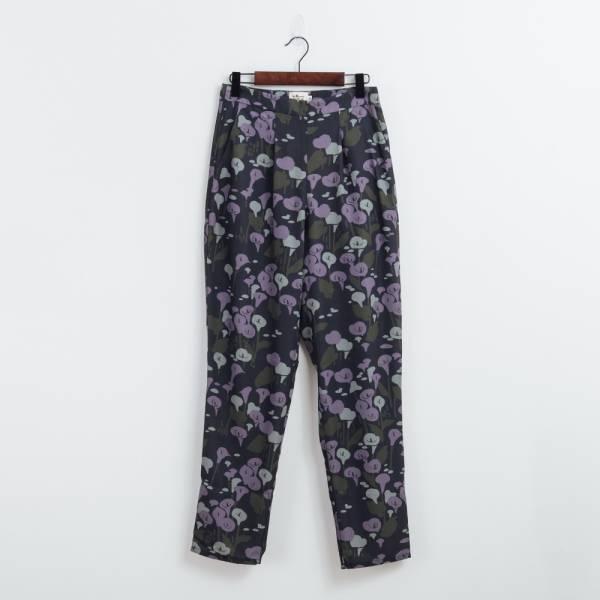 度假長褲/雜花/海芋藍紫 2019,長褲,休閒