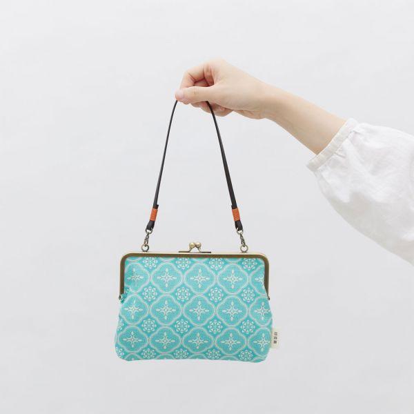 口金手帳包/玻璃海棠/冰晶藍綠 口金包, 零錢包,手提包
