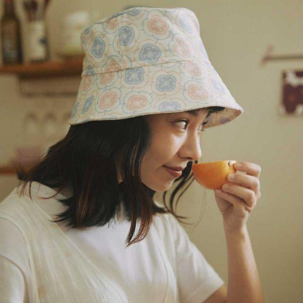 遮陽漁夫帽-玻璃海棠3號/溫馨粉