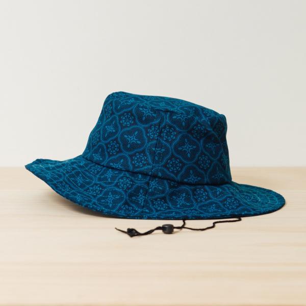 遮陽漁夫帽-可調式/玻璃海棠/宅邸深藍 漁夫帽, 遮陽帽