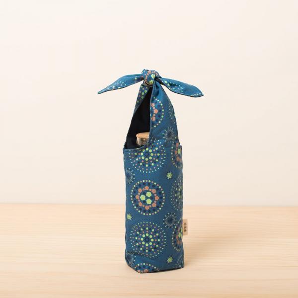 兔耳水壺袋/煙火/暮色藍綠 環保飲料提袋, 隨行杯提袋, 兔耳袋