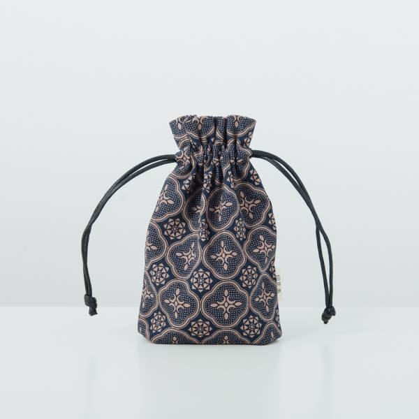束口小物袋/玻璃海棠/午夜藍褐 束口袋, 收納袋