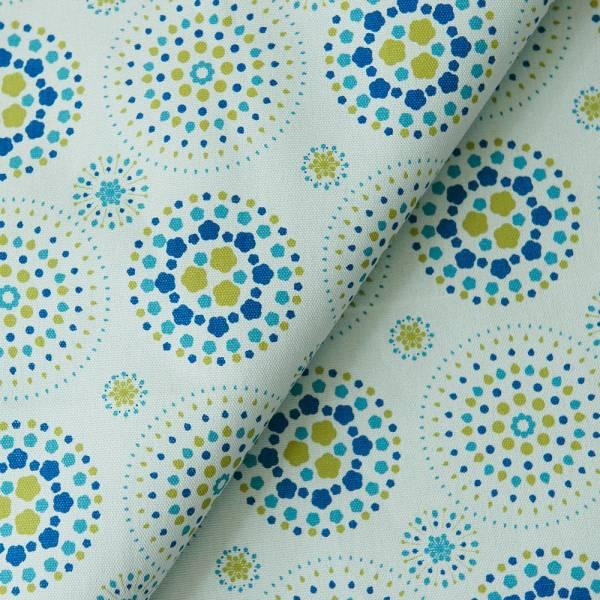 手印棉帆布-250g/y/煙火/鏡藍色 布料, 棉帆布, 手作材料