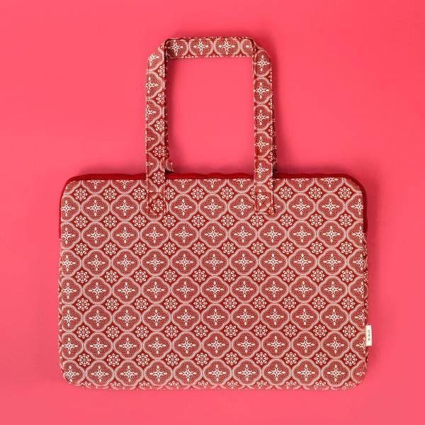 15.5吋筆電收納包/玻璃海棠/名伶深紅 筆電包, 筆電袋