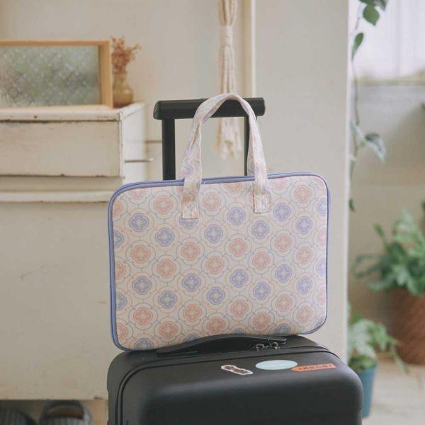 13吋筆電收納包-差旅款/玻璃海棠3號/溫馨粉