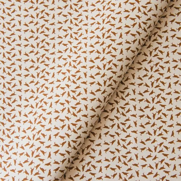 手印棉帆布_滿花-250g/y/台灣八哥4號/蘇丹褐色 布料, 棉帆布, 手作材料