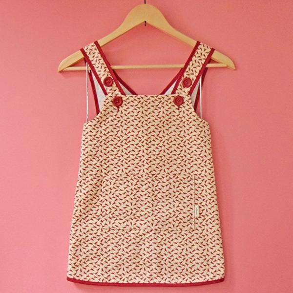 兒童圍裙-110/台灣八哥4號/地質粉紅 圍裙