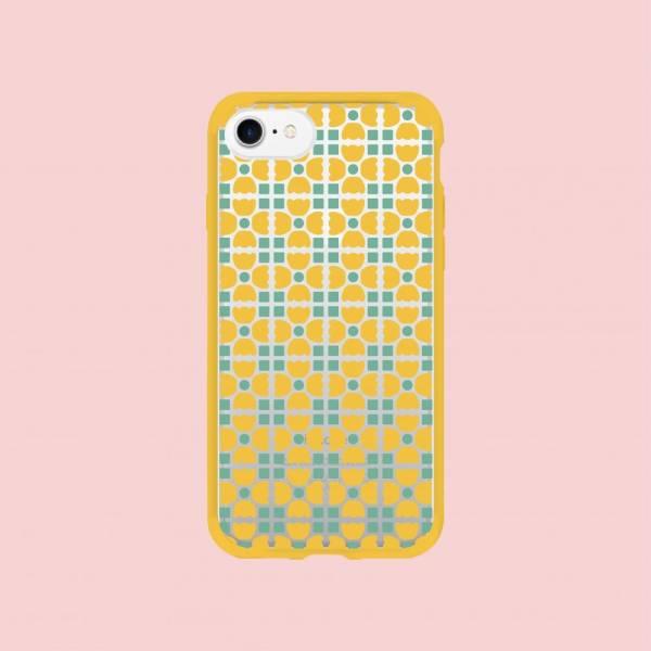 【現貨】印花樂X犀牛盾NX邊框背蓋兩用殼-iPhone XS/老磁磚4號/背蓋六零黃藍 手機殼, 手機套, 犀牛盾, iPhone 手機殼