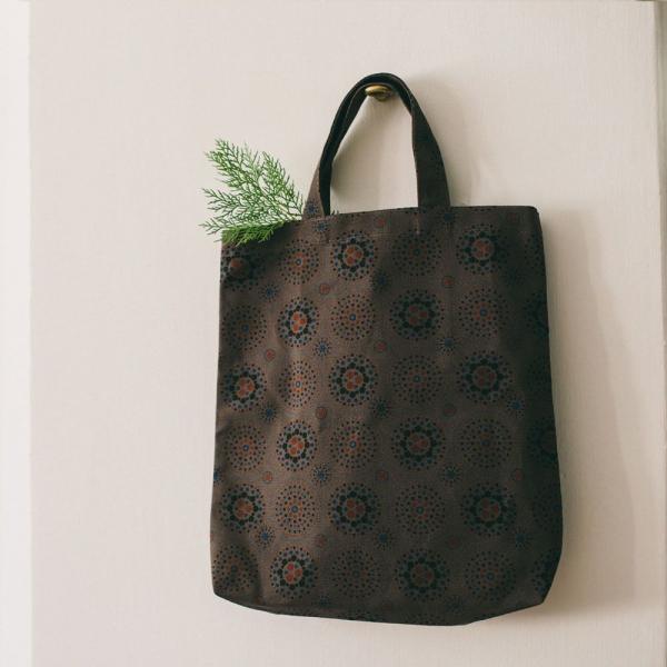直式簡約手提袋/煙火/夜空灰色 手提袋, 手提包