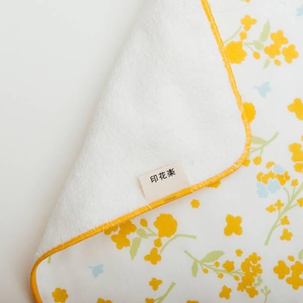 和風雙層小方巾/花草台灣味/油菜花黃 毛巾, 手帕, 方巾