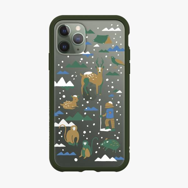 印花樂X犀牛盾NX邊框背蓋兩用殼/山中健行/下雪特別款 手機殼, 手機套, 犀牛盾, iPhone 手機殼