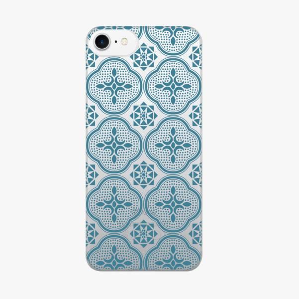 【現貨】印花樂X犀牛盾MOD背板-iPhone X/玻璃海棠/背蓋透明藍 手機殼, 手機套, 犀牛盾, iPhone 手機殼
