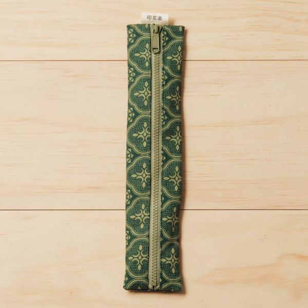 拉鍊餐具袋(含餐具)/玻璃海棠/古董草綠 餐具袋