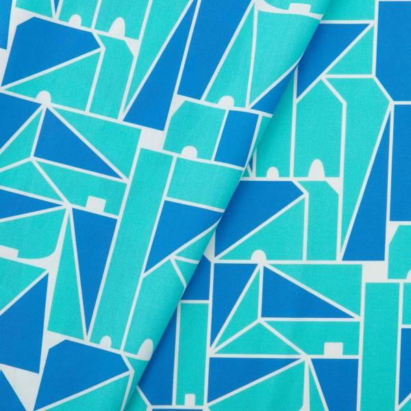 寬幅平織印花棉布/藝術家聯名/印花樂 x LEMONNI/藍調 布料, 薄棉布