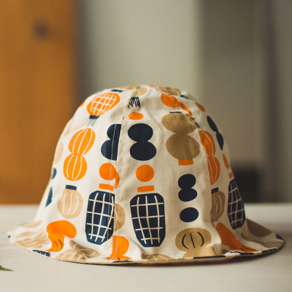 花瓣帽-兒童/米力系列/燈籠/橘藍 兒童遮陽帽, 兒童帽, 花瓣帽