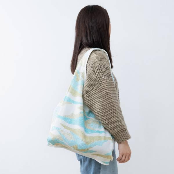 中型側背袋/限定花色/印花樂 x Dear b&b /米白 Dearbnb,中型側背袋,購物袋,環保袋